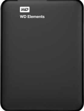 WD Elements 1 TB Wired External Hard Disk Drive  (Black)