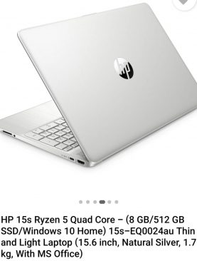 HP 15s Ryzen LAPTOP (15s-EQ0024au)